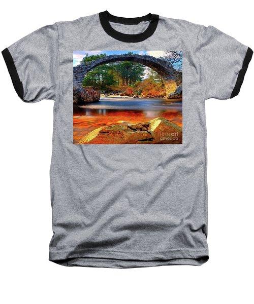 The Rock Bridge Baseball T-Shirt by Rod Jellison