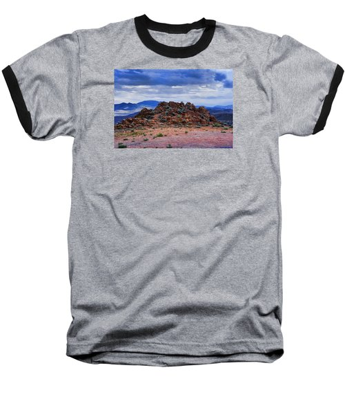 The Rock Stops Here Baseball T-Shirt by B Wayne Mullins