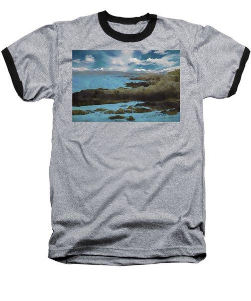 The Rocky Maine Coast. Baseball T-Shirt