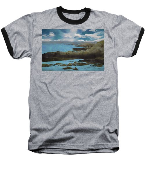 The Rocky Maine Coast. Baseball T-Shirt