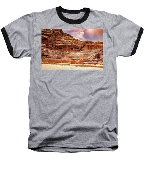 The Roman Theater At Petra Baseball T-Shirt