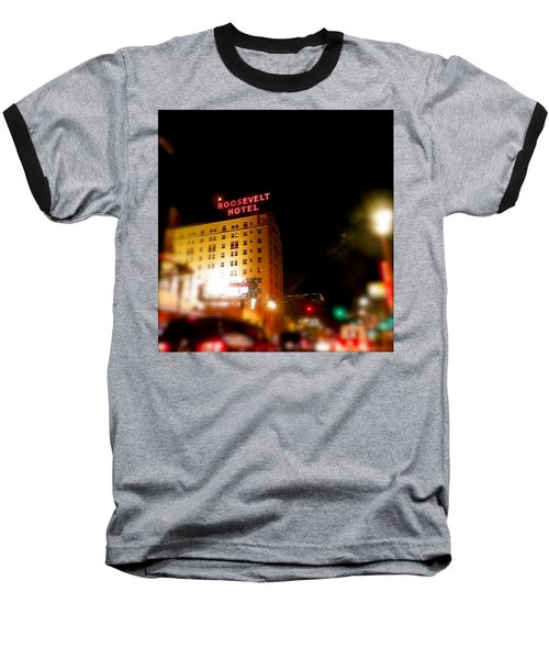 Baseball T-Shirt featuring the photograph The Roosevelt Hotel By David Pucciarelli  by Iconic Images Art Gallery David Pucciarelli