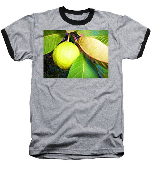Baseball T-Shirt featuring the digital art The Rose Apple by Winsome Gunning