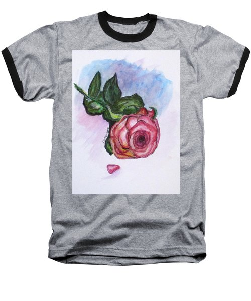 The Rose Baseball T-Shirt by Clyde J Kell