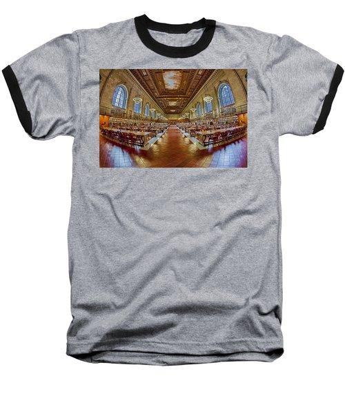 The Rose Main Reading Room Nypl Baseball T-Shirt