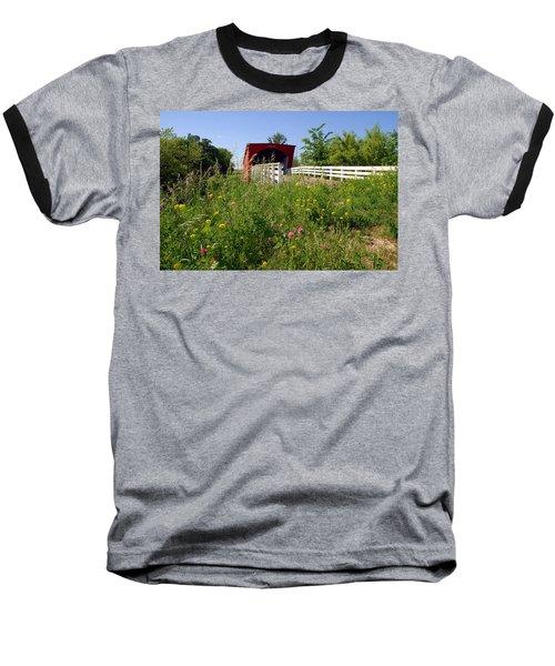 The Roseman Bridge In Madison County Iowa Baseball T-Shirt