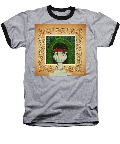 The Roses Urn Baseball T-Shirt by Donna Huntriss