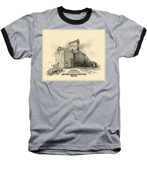 The Ross Elevator Version 2 Baseball T-Shirt by Scott Ross