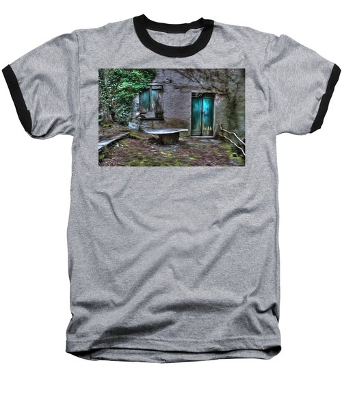 The Round Table House In The Abandoned Village Of The Ligurian Mountains High Way Baseball T-Shirt