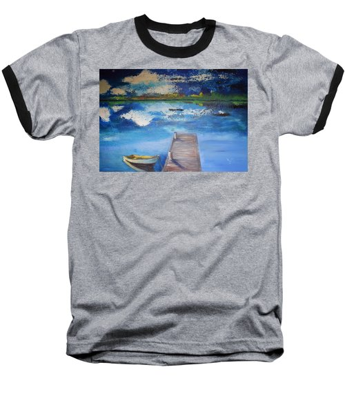 Baseball T-Shirt featuring the painting The Rowboat by Gary Smith