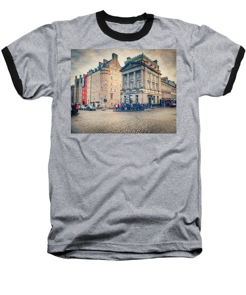 Baseball T-Shirt featuring the photograph The Royal Mile by Ray Devlin