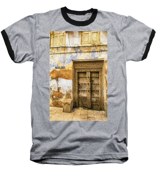 The Rustic Door Baseball T-Shirt by Amyn Nasser
