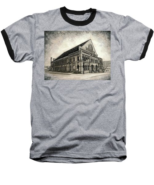Baseball T-Shirt featuring the painting The Ryman by Janet King