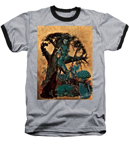 The Sacred Waters Baseball T-Shirt by Vennie Kocsis