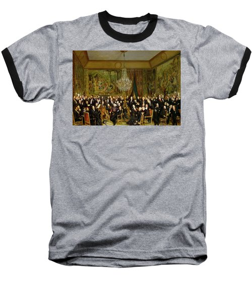 The Salon Of Alfred Emilien At The Louvre Baseball T-Shirt by Francois Auguste Biard