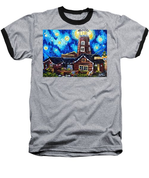 The Salty Dog Saloon Baseball T-Shirt by Sebastian Pierre