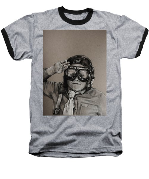 The Salute Baseball T-Shirt by Jean Cormier
