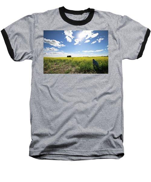 The Saskatchewan Prairies Baseball T-Shirt by Ryan Crouse