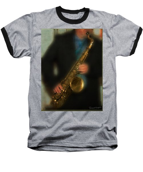The Sax Player Baseball T-Shirt
