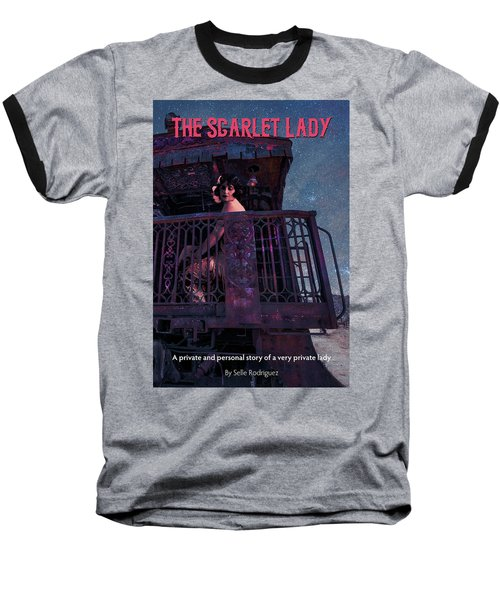 The Scarlet Lady Book Cover Baseball T-Shirt