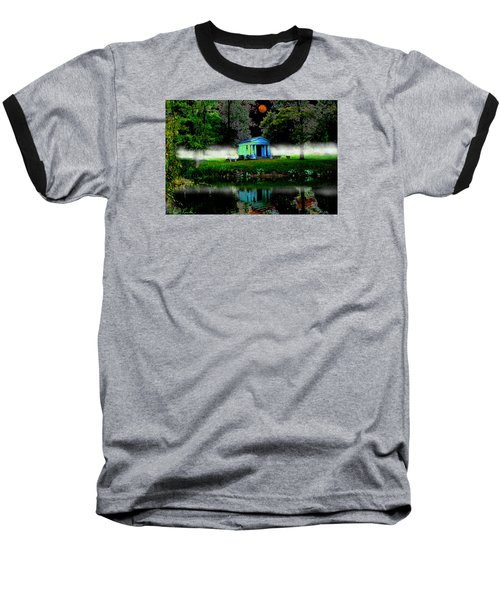 Baseball T-Shirt featuring the digital art The Cemetery  by Michael Rucker