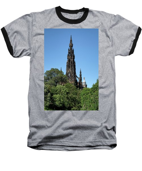 Baseball T-Shirt featuring the photograph The Scott Monument In Edinburgh, Scotland by Jeremy Lavender Photography