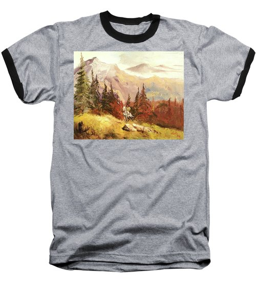 Baseball T-Shirt featuring the painting The Scout by Alan Lakin