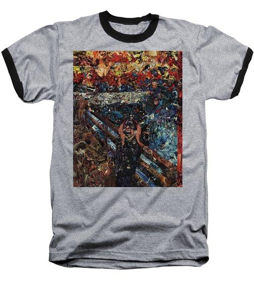 The Scream After Edvard Munch Baseball T-Shirt