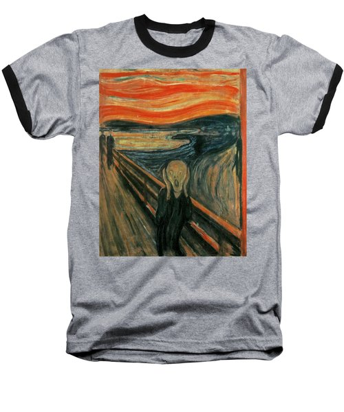 The Scream  Baseball T-Shirt