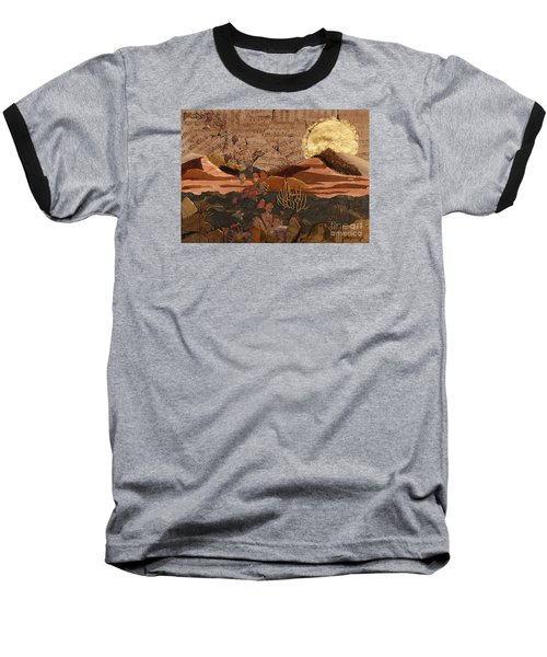 Baseball T-Shirt featuring the painting The Scream Of A Butterfly by Stanza Widen