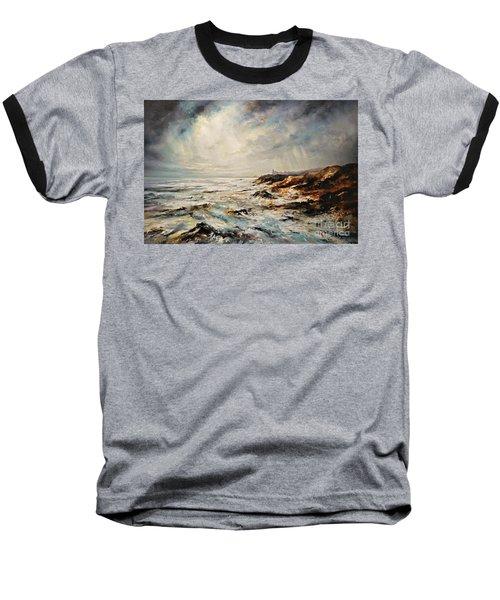 The Sea  Baseball T-Shirt by AmaS Art