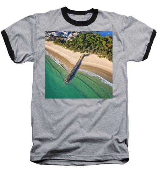 The Sea Wall Near Noosa Main Beach Baseball T-Shirt