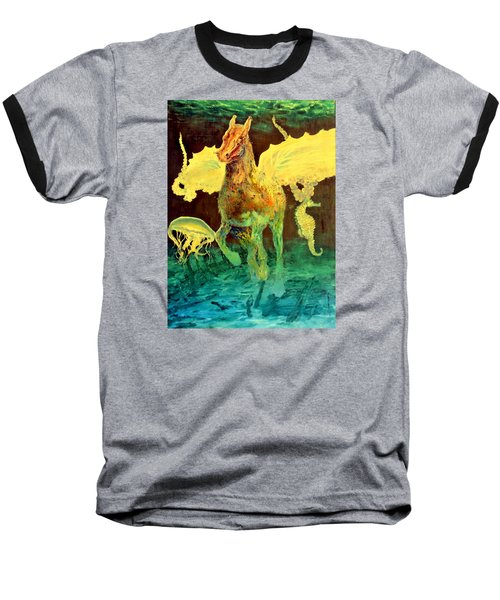 Baseball T-Shirt featuring the painting The Seahorse by Henryk Gorecki
