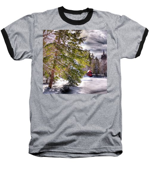 Baseball T-Shirt featuring the photograph The Secluded Boathouse by David Patterson