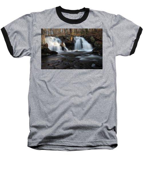 The Secret Waterfall In Golden Light Baseball T-Shirt