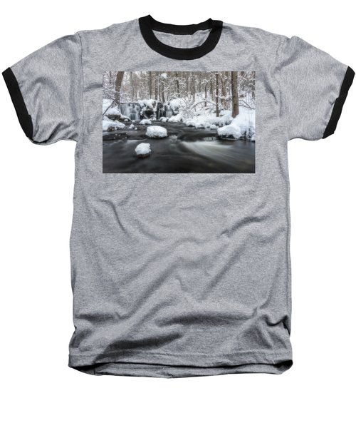 The Secret Waterfall In Winter 2 Baseball T-Shirt