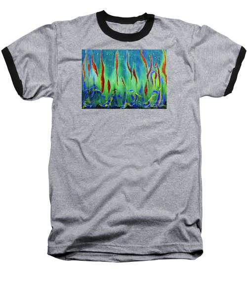 The Secret World Of Water And Fire Baseball T-Shirt by AmaS Art