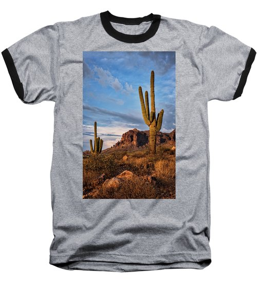 Baseball T-Shirt featuring the photograph The Sentinels Of The Supes In Color  by Saija Lehtonen