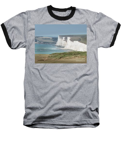 Baseball T-Shirt featuring the photograph The Seven Sisters White Cliffs by Perry Rodriguez
