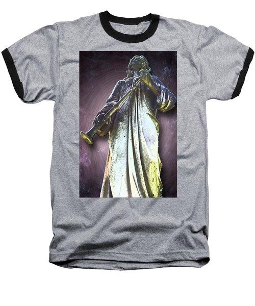 The Seventh Trumpet Baseball T-Shirt by Lisa Brandel