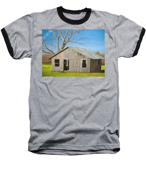 Baseball T-Shirt featuring the painting The Shack by Norm Starks