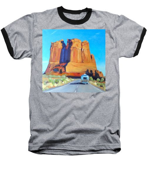The Shadow Of The Three Gossips Arches Utah Baseball T-Shirt