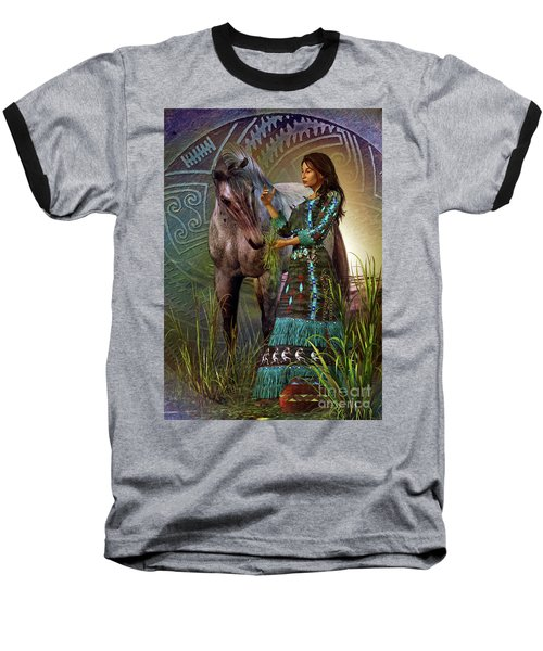 Baseball T-Shirt featuring the digital art The Horse Whisperer by Shadowlea Is
