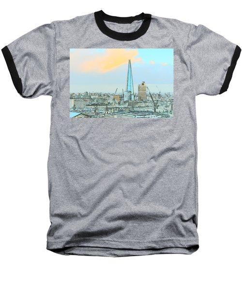 The Shard Outline Poster Baseball T-Shirt