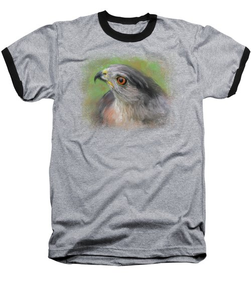 The Sharp Shinned Hawk Baseball T-Shirt by Jai Johnson