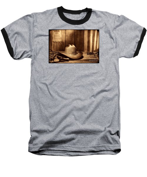 The Sheriff Office Baseball T-Shirt by American West Legend By Olivier Le Queinec