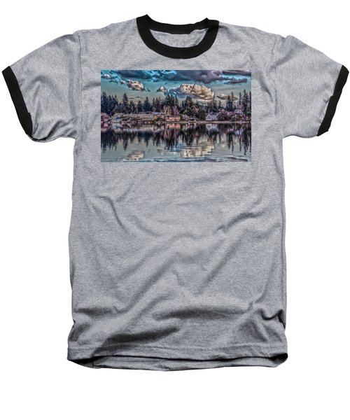 Baseball T-Shirt featuring the digital art The Shore by Timothy Latta