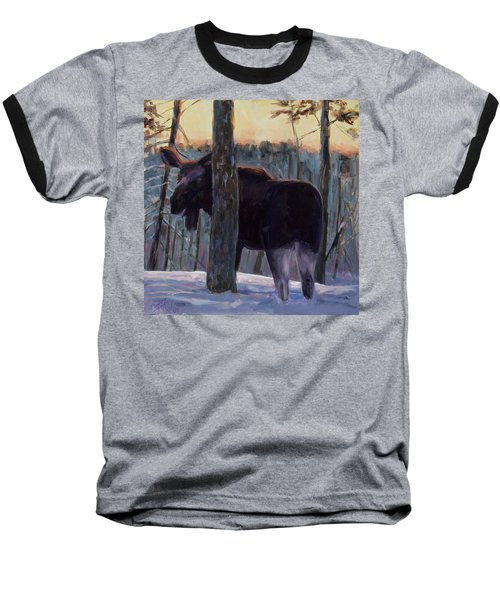 Baseball T-Shirt featuring the painting The Shy One by Billie Colson