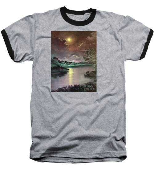 The Silence Of A Falling Star Baseball T-Shirt