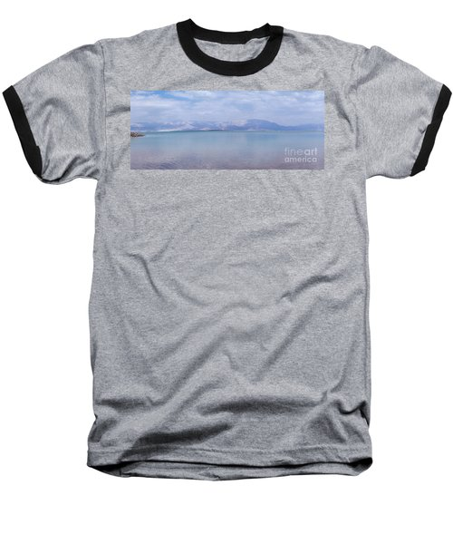 Baseball T-Shirt featuring the photograph The Silence Of The Dead Sea by Yoel Koskas